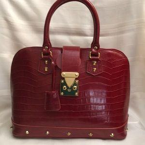 Handbags - Red Faux Croco Bag